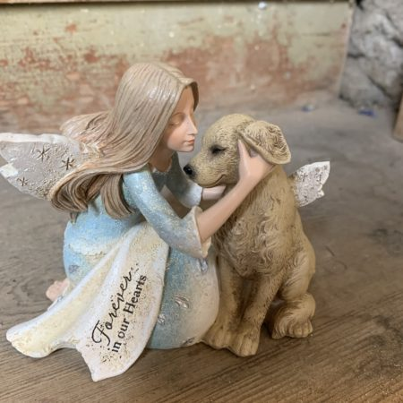 """""""Forever in our Hearts"""" Angel & Dog"""