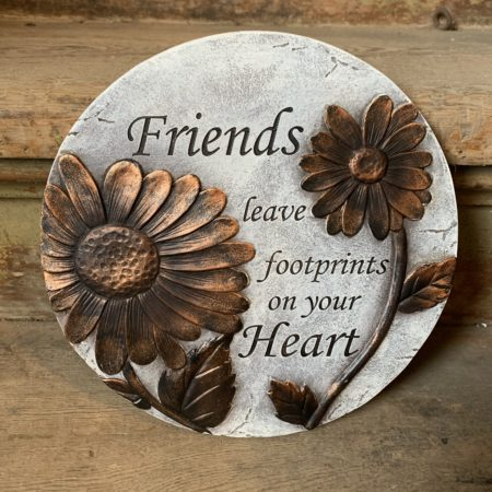 """""""Friends leave Footprints..."""" Stepping Stone"""