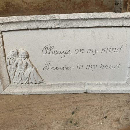 """Always on my Mind..."" Framed Concrete Stone"