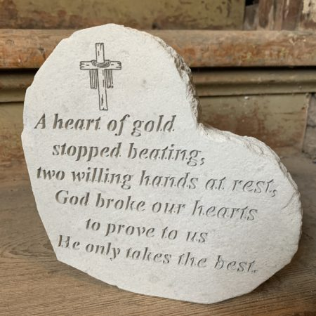 """A Heart of Gold..."" Concrete Heart"