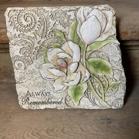 """Always Remembered"" Magnolia Stepping Stone"