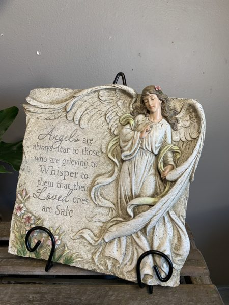 """""""Angels are always near to those who are Grieving..."""" Angel Memorial Plaque"""